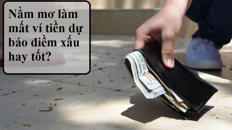 Nằm mơ làm mất ví tiền là điềm gì?