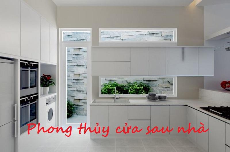 Cửa sau nhà bếp. Phong thủy cửa sau nhà