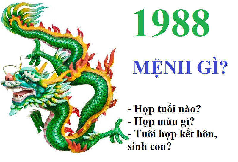 Sinh năm 1988 mệnh gì? hợp màu gì? Hợp tuổi nào kết hôn, sinh con, làm ăn?