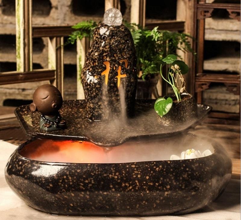 Kinh nghiệm dùng thác nước phong thủy mini, để bàn CHUẨN và CHUẨN. Các loại thác nước phong thủy mini, bằng gốm, bằng đá hot.