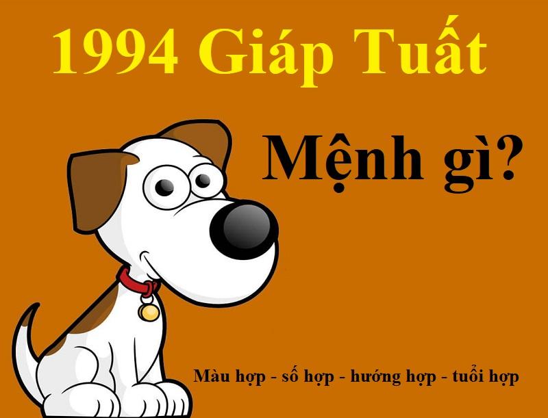 Sinh năm 1994 mệnh gì? Tuổi Giáp Tuất 1994 hợp tuổi nào, mệnh gì, màu gì, hướng nào?