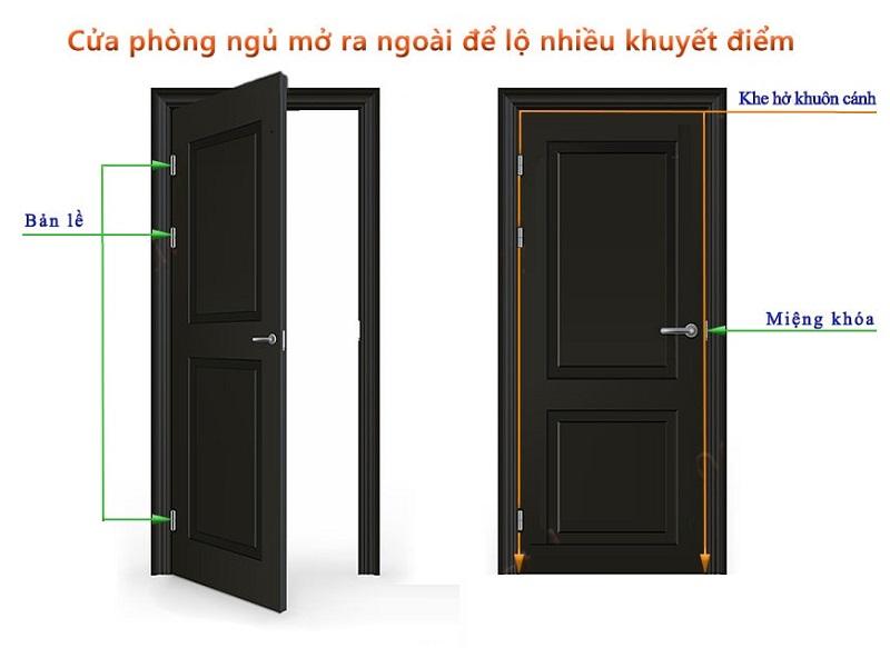Cửa phòng ngủ nên mở ra hay mở vào?