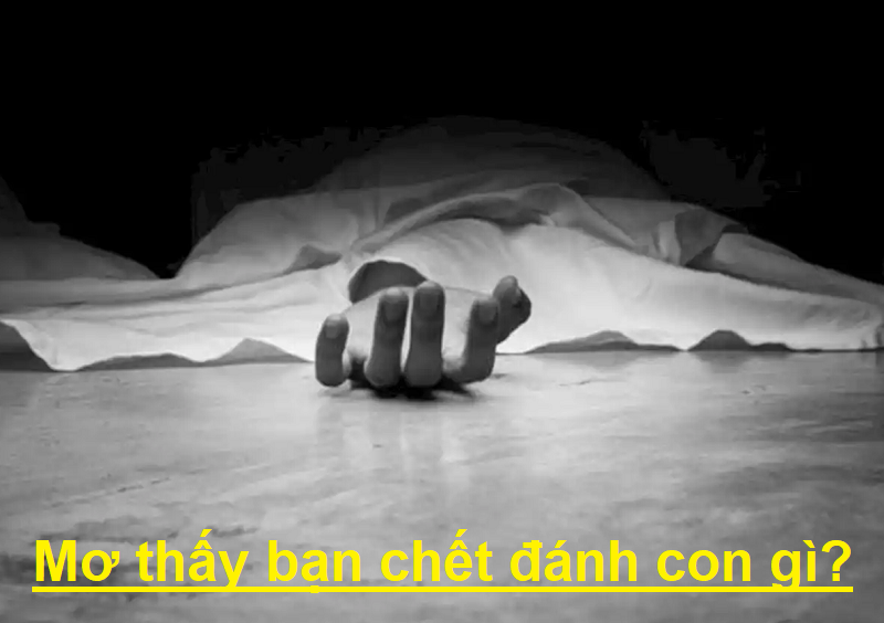 Mơ thấy bạn chết đánh con gì?