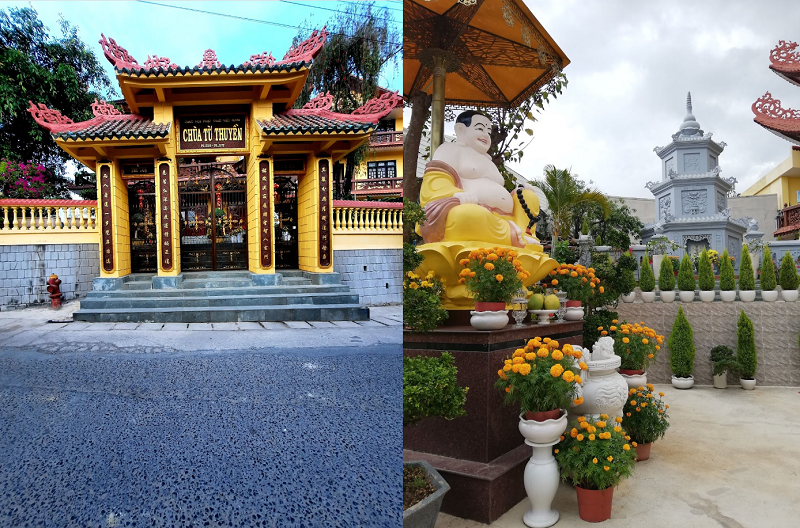 Thông tin địa chỉ các ngôi chùa nổi tiếng ở Đà Lạt. Chùa Từ Thuyền