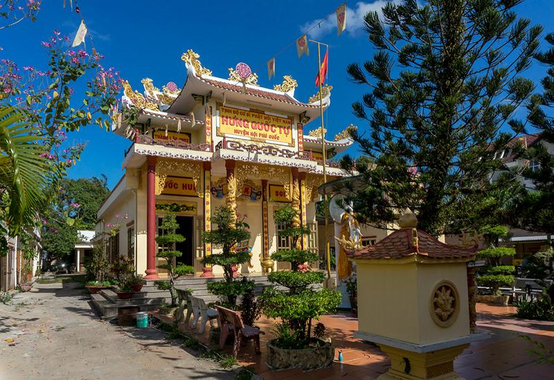 Thông tin địa chỉ, giờ mở cửa các ngôi chùa ở Phú Quốc. Chùa Hưng Quốc Tự